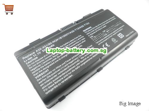 AU Asus A32-X51 A32-T12 90-NQK1B1000Y, T12 T12C X51H  X51L Replacement Laptop Battery