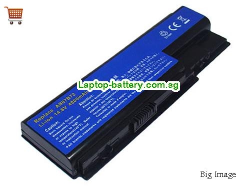 ACER AS07B41 Battery 4400mAh 14.8V Black Li-ion