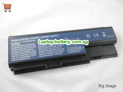 ACER AS07B41 Battery 5200mAh 11.1V Black Li-ion