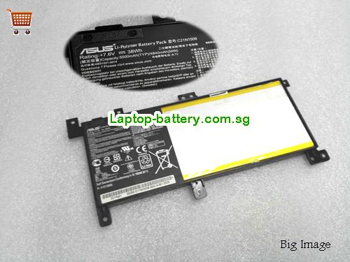 ASUS X556 Battery 4840mAh, 38Wh  7.6V Black Li-ion