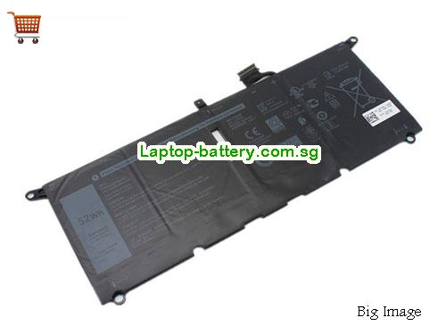 AU DXGH8 Battery Dell 7.6v 52Wh 6500mAh Li-Polymer
