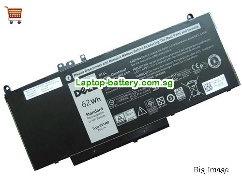 Dell E5570 Battery 8260mAh, 62Wh  7.6V Black Li-ion
