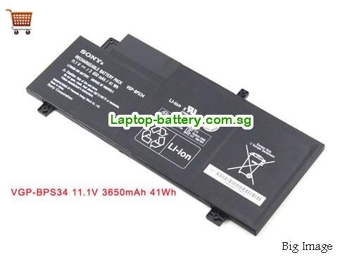 SONY SVF15A18CXB Battery 3650mAh, 41Wh  11.1V Black Li-ion