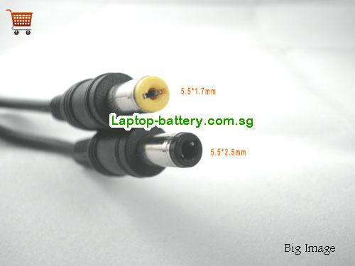Difference between acer adapter tip 5.5*1.7mm and 5.5*2.5mm