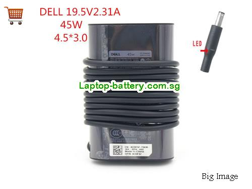 XPS 13 9360 Dell 19.5V 2.31A Laptop AC Adapter, 45W