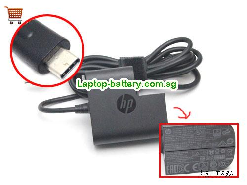 815049-001 HP 20V 2.25A Laptop AC Adapter, 45W